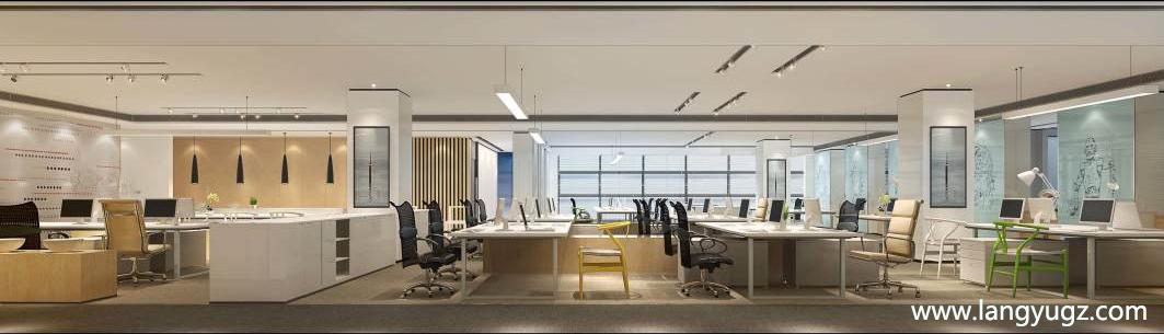 成都地产办公室装修 设计图纸及效果图