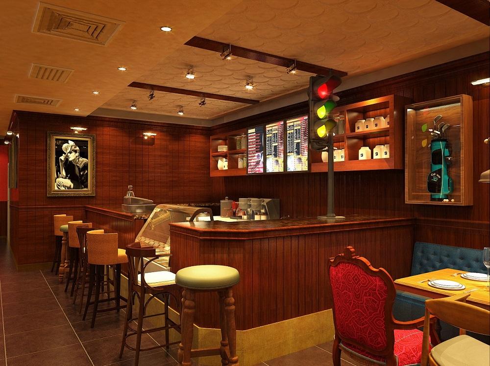 格调奢华!成都美式西餐厅装修设计案例!