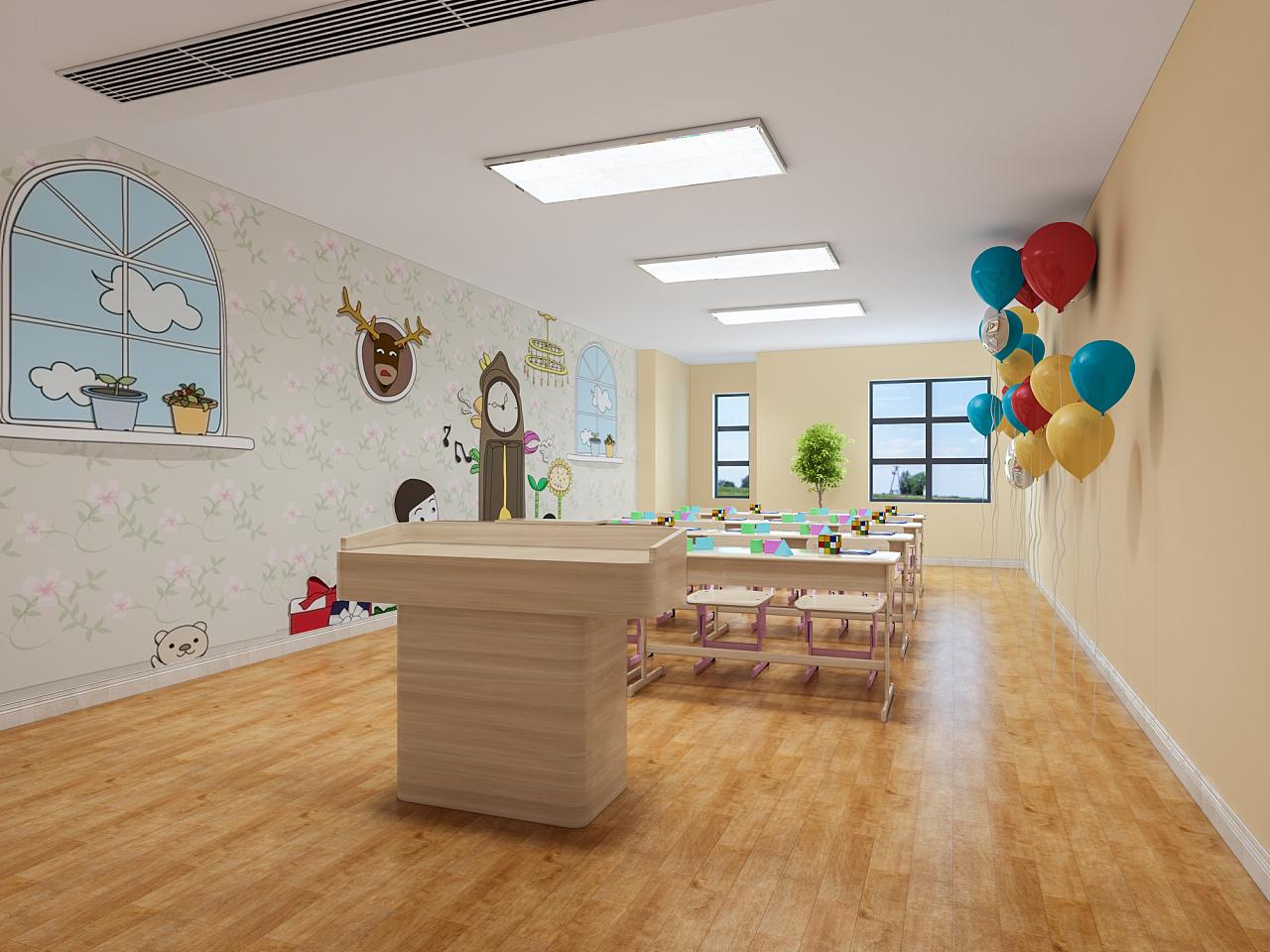 公装装修公司告诉你,幼儿园装修设计色彩如何搭配?
