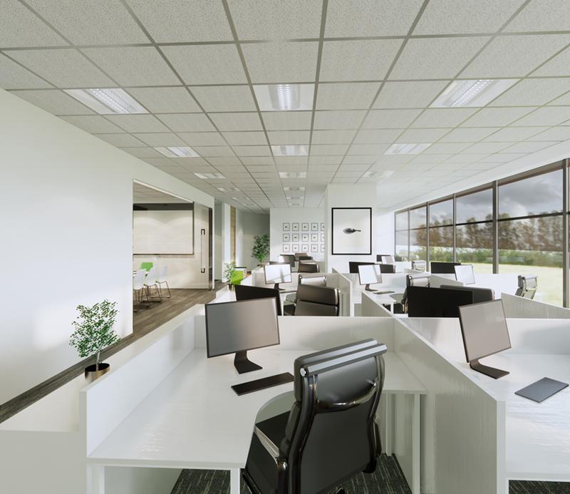 乔达国际货运成都办公室装修设计效果图