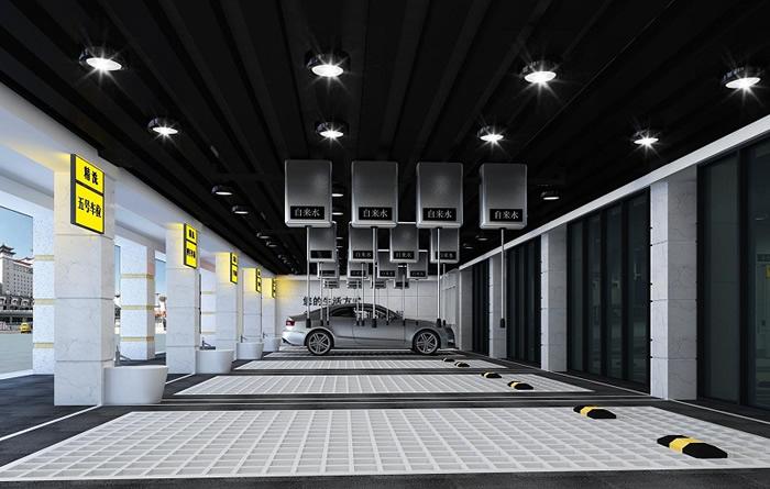 都市现代汽车美容店装修效果图