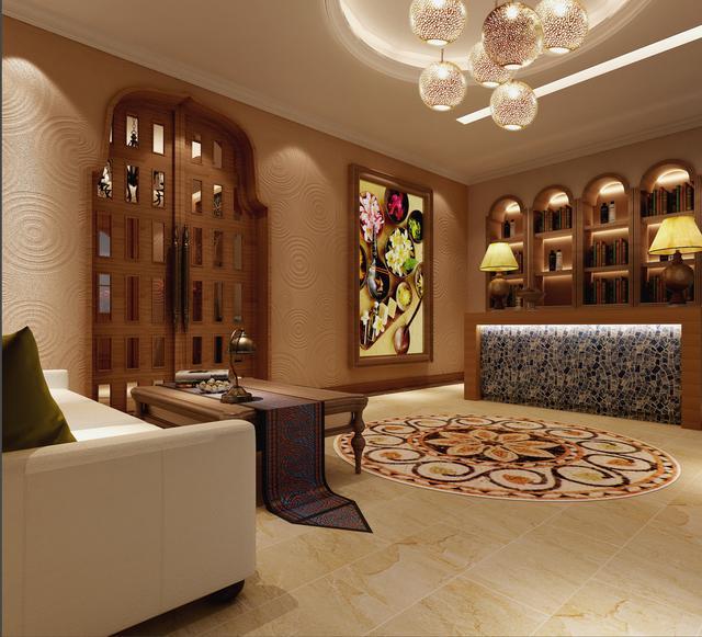 小型东南亚风格美容店面装修效果图