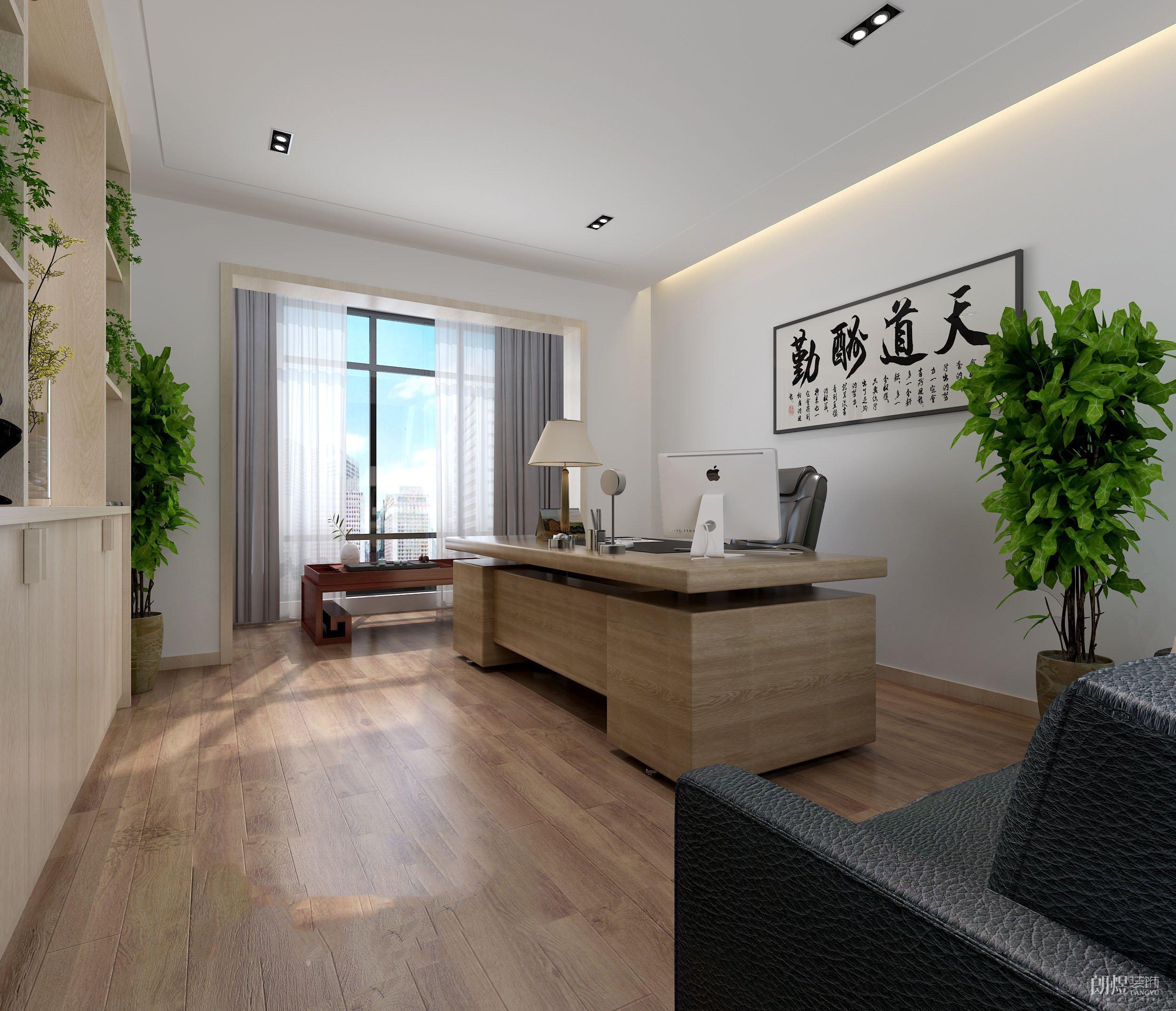 复式公寓改造办公室效果图