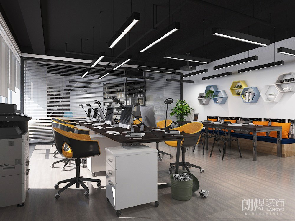 成都200平米办公室装修效果图