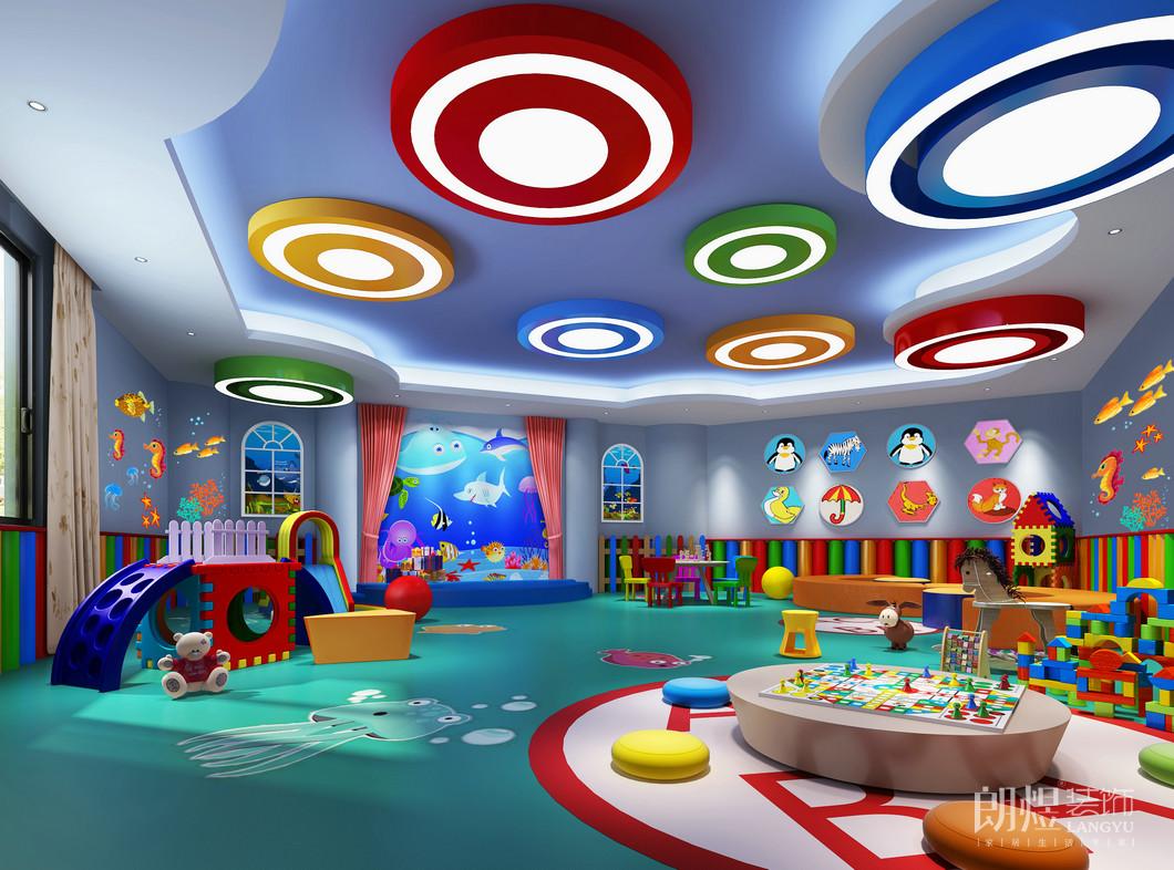 成都300平米美式幼儿园装修效果图
