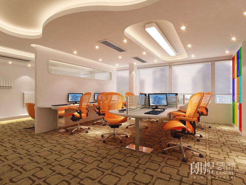 活力四射的现代风格办公室装修效果图