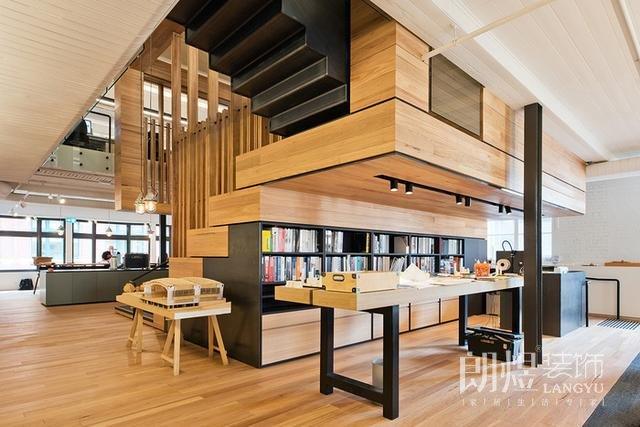 原木风格办公室装修案例分享