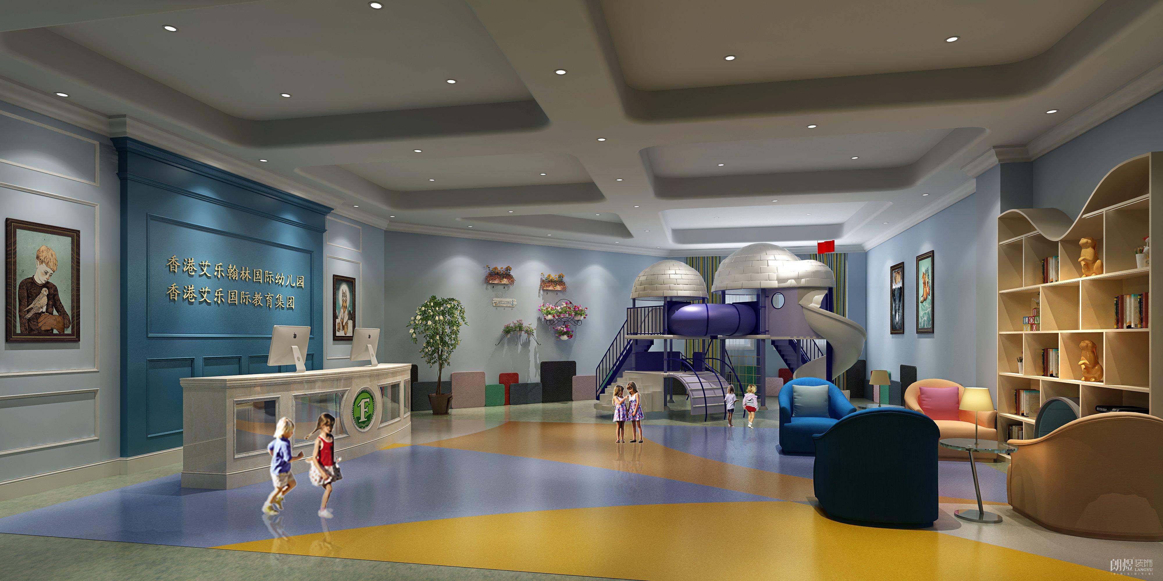 医疗教育     一楼室内活动场所效果图    乐至幼儿园4楼大厅效果图