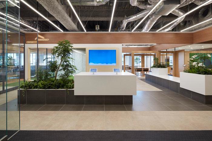 现代简约贸易公司办公室装修效果图