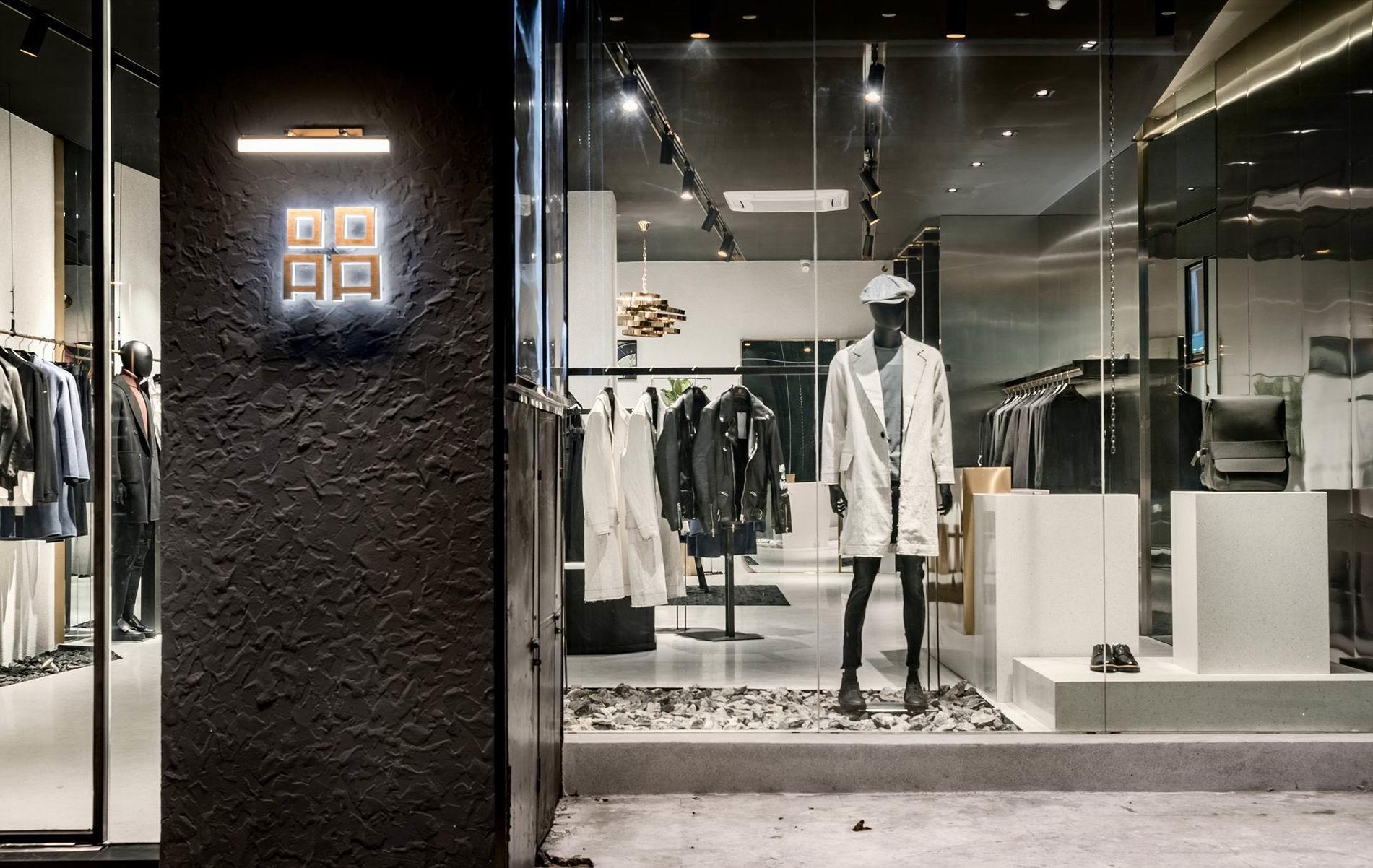 小型时尚潮流「男装店面装修效果图」