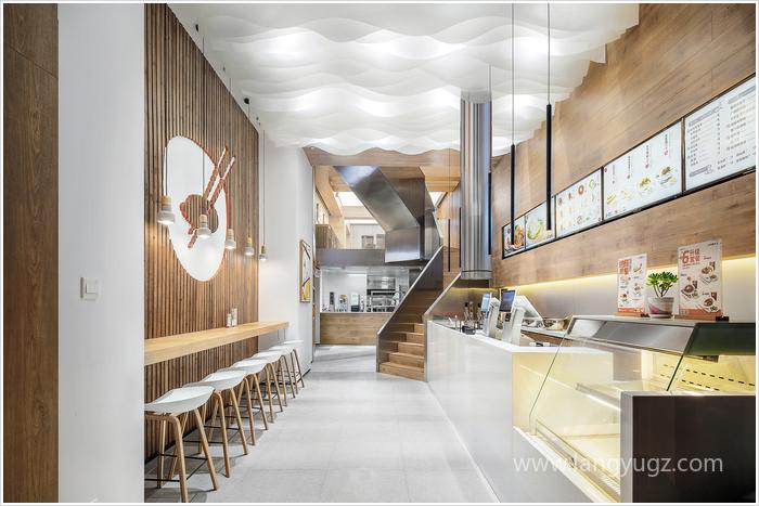 简单好看的快餐厅装修效果图