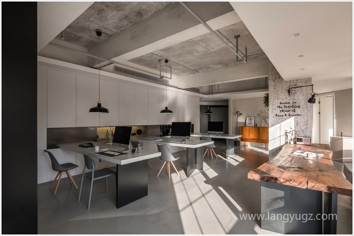700平北欧极简风生活办公室装修效果图
