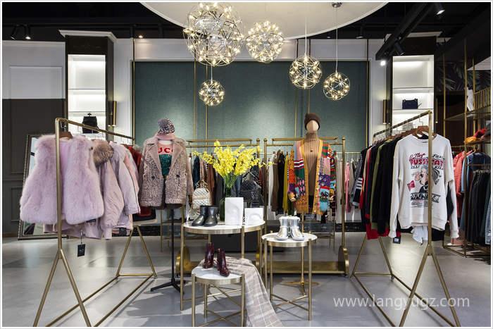 时尚女装店铺吊顶效果图片欣赏