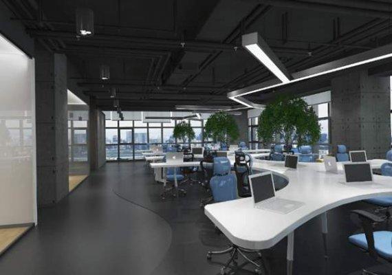 现代科技办公室装修理念分享!办公室装修效果图!