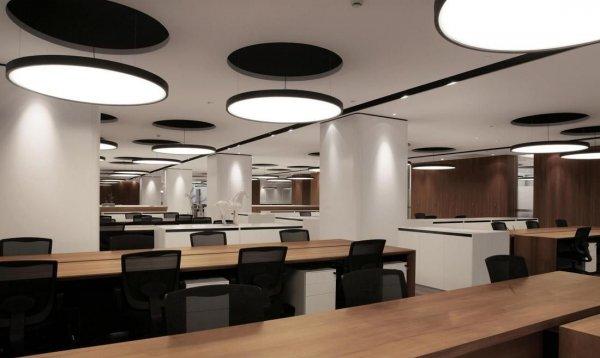 办公室装饰不吊顶装修设计效果图