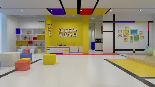 简单大方的幼儿园教室装修效果图